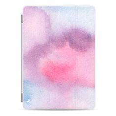 Purple Pink and Blue Cloudy Watercolor iPad Case - iPad Cover / Case (£39) ❤…