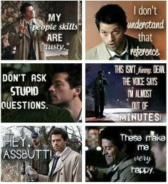 My new favorite TV character - The angel Castiel from Supernatural.