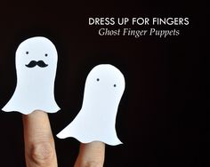 Ghost Finger Puppet by Curly Birds:: might make some of these for our halloween party favors! :D they look so simple to make, and i think my friends would love them. :3
