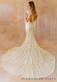 Ivory Lace Bohemian  www.mccormick-weddings.com Virginia Beach