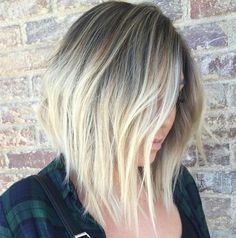 The long-bob hairstyles 2017-2018 are a famous one. Some stylish women have shaken this super-chic look in the past and the simply over the shoulder look has been supported by celebrated big names.