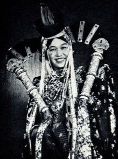 Khalkha mongolian woman
