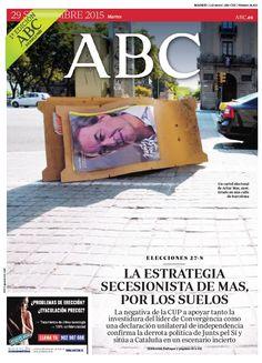 La portada de ABC del martes 29 de septiembre