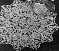 Sunburst Doily crochet pattern originally published in Pineapple Pageant, Spool Cotton Co. #252.