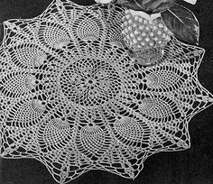 Sunburst Doily crochet pattern originally published in Pineapple Pageant, Spool Cotton Co. #252.