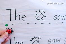 INSTRUCTION: This is a fun activity to teach students text directionality. By providing students with a little plastic animal and a green dot (GO) and a red dot (STOP), students see a clear reason for the otherwise arbitrary decision to read left to right. As well, incorporating drawings into sentences allows readers of all levels to participate!