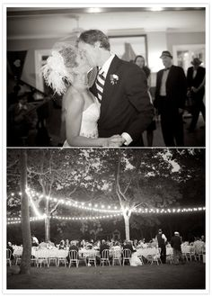 outdoors, of course + perfect outdoor wedding lighting