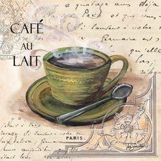 RB1908 <br> Paris Coffee Square IV <br> 12x12