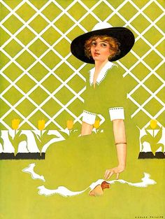 Fadeaway Girl for Apollo Chocolates by Coles Phillips (1923)