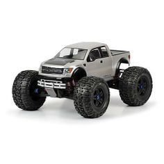 Proline 334500 Ford F-150 SVT Raptor Clear Body for Revo 3.3 and T-Maxx 3.3 by ProLine. $31.06. From the Manufacturer                This is a Pro-Line Ford F-150 SVT Raptor Clear Body for the REVO 3.3. The full-size Ford Raptor SVT was designed for serious off-road abuse and now you can give your monster truck the same look. The Raptor has a bold grill that tells everyone to get out of your way and hood fins that prove it is a serious racing truck. Every detail of this mo...