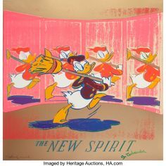 Prints:Contemporary, Andy Warhol (1928-1987). The New Spirit (Donald Duck), fromthe Ads portfolio, 1985. Screenprint in colors on Lenox ...