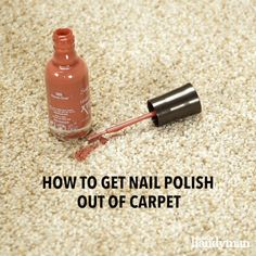 Don't panic if you've accidentally spilled nail polish on your carpet, we're here to help! With our expert guide, we'll show you a tried and true method for how to get nail polish out of the carpet. Clean Nails, Get Nails, Home Organisation Tips, Clean My House, Diy Crafts Hacks, French Tip Nails, Carpet Stains, Diy Videos, Nail Tips