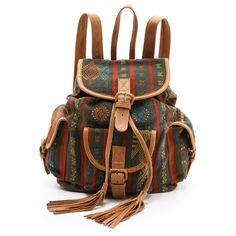 Cleobella Arizona Backpack (1.250 BRL) ❤ liked on Polyvore featuring bags, backpacks, accessories, handbags, tan, knapsack bag, cleobella, day pack backpack, tan bag and buckle flap backpack