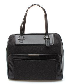 This Black Taylor Wool Bowler Satchel is perfect! #zulilyfinds
