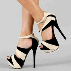 Black and cream shoes