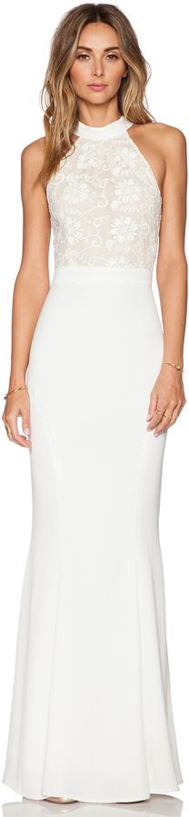 JARLO Lace Caden Maxi Dress #Revolve