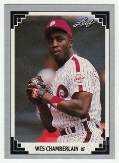 Wes Chamberlain RC # 178 - 1991 Leaf Baseball MLB Rookie