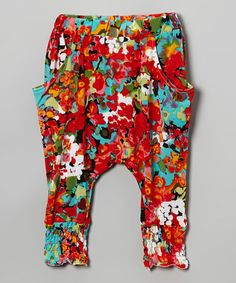 Look what I found on #zulily! Red Floral Harem Pants - Infant, Toddler & Girls #zulilyfinds