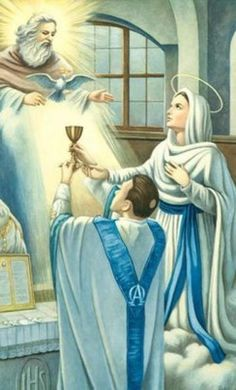 """""""Behold, your mother."""" Holy Mary, Mother of God, and mother to all of our priests."""