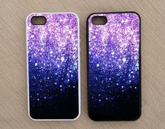 Phone cover: glitter, phone case, purple, iphone 5 s, iphone case, cover, phone - Wheretoget #phone