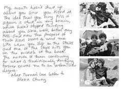 Alex Turner's love letter to Alexa Chung