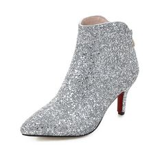 33.15$  Watch now - http://alifqx.shopchina.info/go.php?t=32731665223 - Advanced imported sequins Chelsea boots Pointed Toe  After the zipper Cone with Pure color Women Ankle Boots Size 34-43 T2315  #magazineonlinewebsite