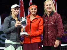 Sania Mirza Martina Hingis are 2015 WTA Champions and they got 9th victory together in doubles.  Live Updates: http://kridangan.com/tennis/sania-mirza-martina-hingis-and-agnieszka-radwanska-are-2015-wta-champions/8403/