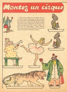 petitcirque   by pilllpat (agence eureka) Vintage Circus, Vintage Paper, Paper Art, Paper Crafts, Diy Crafts, Circus Poster, Circus Party, Circus Room, Paper Magic