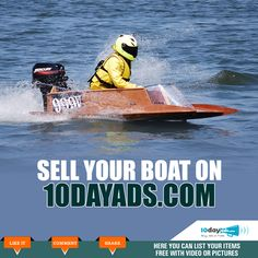 Sell your boat on 10dayads.com #SellBoat #BuySellTradeWebsites