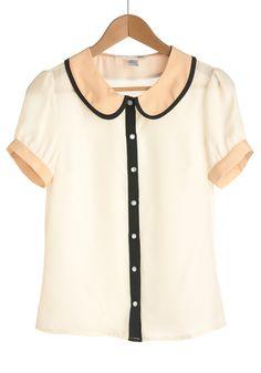 Peter pan collar shirt