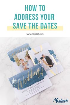 How to address your save the dates for your wedding. Learn the proper etiquette to addressing your save the dates.