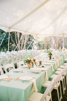 Aqua wedding reception- Tuckahoe Plantation:) I think I like the aqua runners with white table cloths better. Wedding Mint Green, Aqua Wedding, Trendy Wedding, Wedding Colors, Mint Gold Weddings, Orange Weddings, Wedding Flowers, Wedding Reception Decorations, Wedding Table