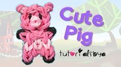 Cute Pig Charm/Mini Figurine Rainbow Loom Tutorial