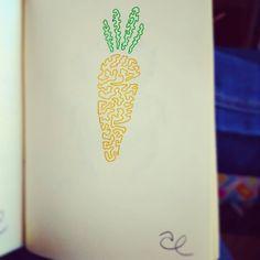 4. Zanahoria . #jarsart #jartober2020 #carrot Carrots, Jar, Instagram, Carrot, Jars, Glass