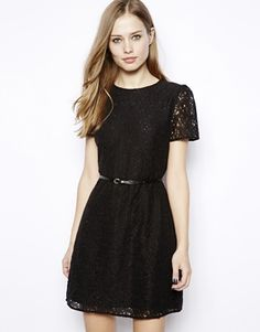 3b2e8f974bb5 Oasis Lace Skater Dress at asos.com