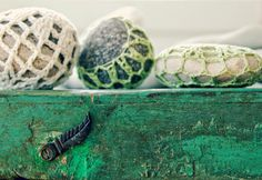Tarja's Snowland, crochet stones