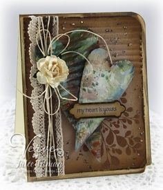 Stamps: Small Phrases, New Mercies (Verve Stamps) Paper: Crumb Cake (SU! Timmy Time, Mixed Media Cards, Shabby Chic Cards, Beautiful Handmade Cards, Heart Cards, Love Cards, Pretty Cards, Valentine Day Cards, Card Tags