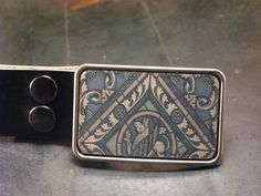 Groomsmen gift Stained glass leather belt buckle. $38.00, via Etsy.