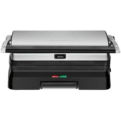 Cuisinart Griddler Grill & Panini Press- GR-11 ($110) ❤ liked on Polyvore featuring home, kitchen & dining, small appliances, brushed steel, steak grill, cuisinart panini grill, cuisinart panini press, cuisinart and cuisinart grill