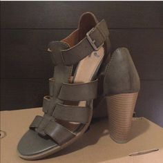 Gladiator Heels Brand:REPORT Super cute, in style sandal heels! Olive green as shown in picture! These are my loss your win! Make your statement with these fabulous pair of heels! I can post pictures!let me know if you have any questions  3.5in heel. model is showing same shoe just in another color open to offer Report Shoes Heels