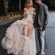 @musebybertaPictures@tali__photography #Berta #vakkowedding #bridal Off Shoulder Wedding Dress Bohemian, Bohemian Wedding Dresses, Cheap Wedding Dress, Crazy Wedding Dresses, Unusual Wedding Dresses, Ethereal Wedding Dress, Unconventional Wedding Dress, Bridal Lace, Bridal Gowns