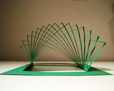 I recently stumbled upon some amazing kirigami art. And they break the golden origami rule: No cutting. Biomimicry Architecture, Movement In Architecture, 3d Model Architecture, Tropical Architecture, Kirigami, Paper Structure, Dog Crafts, Paper Art, Diy Paper