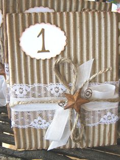 Rustic Lace Wedding Table Numbers Rusty Star by CharonelDesigns, $30.00