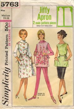1960s Simplicity 5763 Vintage Sewing Pattern