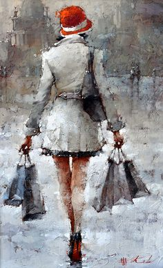 """24"""" x 15"""" Original Oil by Andre Kohn. Giclee Prints are available as well."""