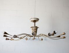 Arredoluce Italian Brass Multi-Armed Chandelier