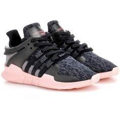 Adidas Originals Equipment Support Sneakers ($160) ❤ liked on Polyvore featuring shoes, sneakers, black, adidas originals trainers, kohl shoes, adidas originals shoes, black trainers and black shoes