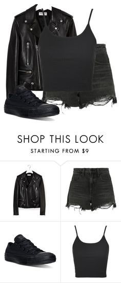 """""""~violet"""" by peacetea-queen on Polyvore featuring Yves Saint Laurent, Alexander Wang, Converse and Topshop"""