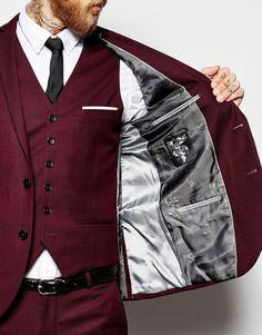 Heart & Dagger | Heart & Dagger Suit Jacket in Birdseye Fabric in Super Skinny Fit at ASOS