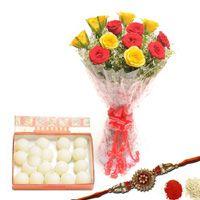 Send Red n Yellow Rakhi Hamper Nagpur